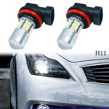 Xenon White H11 10-SMD LED Fog Lights High Low Beam Bulbs Replacement Kit