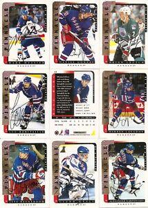 1996-97 Pinnacle BAP Be A Player Signature New York Rangers Team Set (10)
