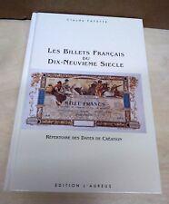 Les Billets Francais du Dix-Neuvieme Tome A Siecle Claude Fayette Volume A 1990
