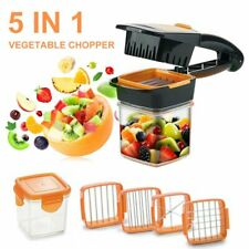 5 in 1 Vegetable Fruit Slicer Tool Cutter Chopper Dicer Salad Food Nicer Set