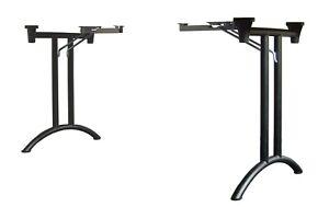 Klapptisch-Gestell, Klapptisch-Beschlag, D-Form, Stahl, silbergrau oder schwarz