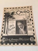 Vintage Sheet Music When Lights are Low in Cairo Eastern Song Fox-Trot 1927