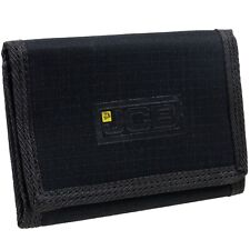New Mens Boys Teens JCB Slim Compact Canvas Wallet Black