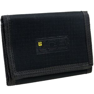 Mens JCB Slim Compact Canvas Wallet Black
