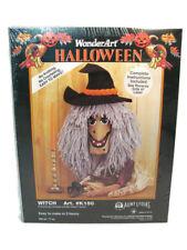 Caron Int'l Aunt Lydia's Yarn Kit Wonder Art Craft Halloween Witch Art K150