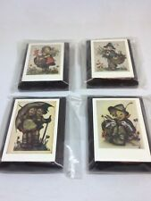 4 Vintage Hummel Wooden Wall Pictures Lot Hummel Wood Plaques Boys & Girls