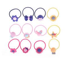10pcs Lot Children Elastic Hair Band Candy Color Headbands Ropes Girl Headwear//