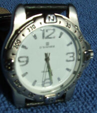 NOS Gent's D'SIGNER 3-Hand Quartz-Analog: Made In India, Rotating Bezel, SS Back