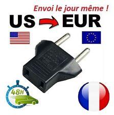 Adaptateur Secteur 220v 110 Americaine Vers Prise EU France Europe voyage Eur FR