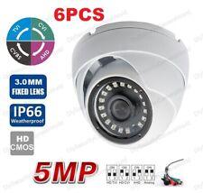 (6 Set) HD-TVI 5MP CVI 4.0MP Dome Camera SONY CMOS Indoor outdoor CCTV Camera