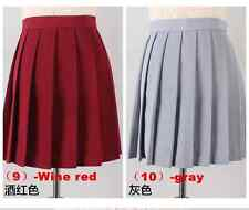 Wholesale Price School Girls Pleated Mini Skirt Anime Cosplay Skirt -Free ship