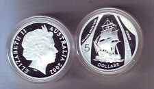 2002 Silver $5 Proof Coin HM Bark Endeavour Sailing Ship ex Masterpieces Set