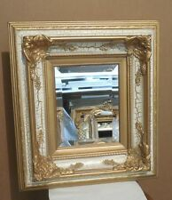 """Ornate Solid Wood """"18x20"""" Rectangle Beveled Framed Wall Mirror"""