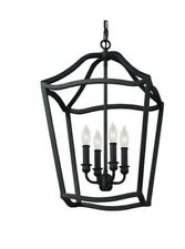 Feiss Lighting F2975/4AF Yarmouth Foyer Pendant Light, Antique Forged Iron