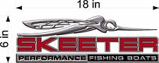 """SKEETER Boats 3D Bug / RED / 18"""" Vinyl Vehicle Watercraft Fishing Graphic Decal"""