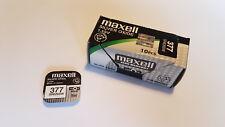 10x Pila Boton Maxell 377 - SR626SW - AG4 - 1,55V
