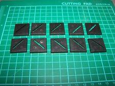 10 25mm Square Bases (bits)