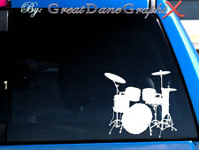 Drum Set Vinyl Decal Sticker / Color - HIGH QUALITY
