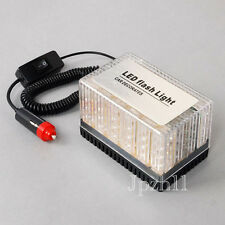 48 LED Amber Car Police Magnetic Roof Flashing Flash Strobe Emergency Top Light