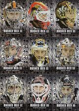 29ct 2010-11 ITG Between The Pipes Hockey Masked Men III Silver Card Lot /100