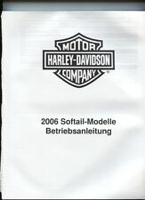 motor HARLEY-DAVIDSON   company  : 2006 SOFTAIL-modelle betriebsanleitung