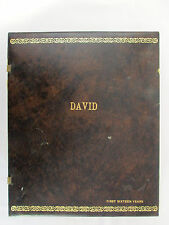 Memories & Keepsakes of David 1st 16 Years 1955-1965 Scrapbook Photo Album 13x11