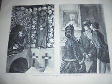 Italy Rome The Cenci and the Cappucini 1872 prints ref AK
