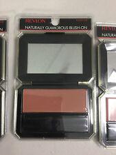 3 X Revlon Naturally Glamorous Blush On (Fleshtone) All Day Cheekcolor NEW