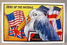 1909 Hero Of The Nations patriotic embossed postcard copy, F.A. Moss *