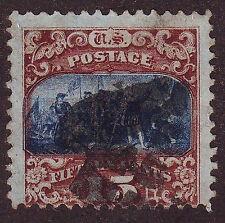 "1869 USA Scott #119 - 15¢  Landing of Columbus brown & blue ""G"" Grill F"