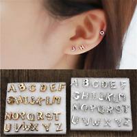 26PCS Fashion Silver Gold Initial Alphabet Earrings Letter A Z Ear stud Jewelry