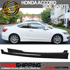 08-10 Honda Accord Coupe 2Dr PU Urethane Side Skirts Lip