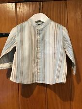 Monsoon Lovely Boys Striped Shirt Age 6-12 Months Very Good Condition