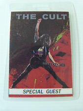 THE CULT Laminated SPECIAL GUEST Backstage Tour Pass - Sonic Temple Tour 1989