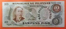 10 Pesos banknote Philippines Apolinario Mabini serial#FQ557334