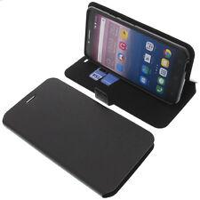 Funda para Alcatel Pixi 4 6.0 4g Book Style FUNDA PROTECTORA Gadget Negro
