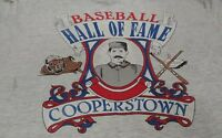 Cooperstown Hall Of Fame T-shirt Size Large rare distressed vtg 80s mlb A066