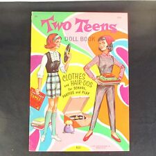 1971 Two Teens Paper Dolls Clothes & Hair-Dos Uncut-Unused