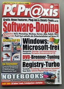 PC Praxis 04/2004 inkl. CD-ROM Adobe Premiere Pro   Software-Doping   Notebooks