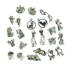 70Pcs Zinc Alloy Cartoon Cat Charms Pendants 19x14mm 1A1848