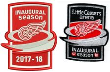 DETROIT RED WINGS PATCH SET 2017-18 INAUGURAL SEASON LITTLE CAESARS PUCK STYLE