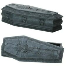 New! Gargoyle Coffin Gothic Rose Design Trinket Jewelry Keepsake Box Container