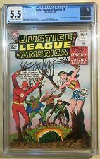 Justice League of America #9 (( CGC 5.5 - Origin Story! )) OW/W Feb 1962 JLA