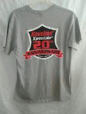 Gildan (Size L) Havoline Xpress Lube 20th Anniversary T Shirt Short Sleeve Gray