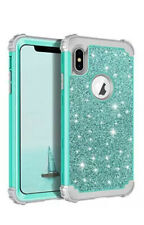 iPhone 8 Glitter Case Silicone Cover Shiny Teal