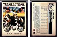 Rick Mirer Signed 2004 Topps #28 Card Detroit Lions Auto Autograph