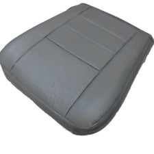 03 07 Ford Excursion Base V8 Driver Bottom perforated Leather Seat cover GRAY