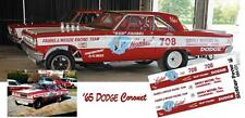 CD_MM_031 Bud Faubel Honker 1965 Dodge Coronet  1:24 Scale Decals