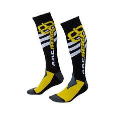 ARC Motocross Socks Size 10-13 Black/Yellow