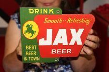 Drink Jax Beer Best Beer In Town Bar Tavern Gas Oil Porcelain Metal Sign